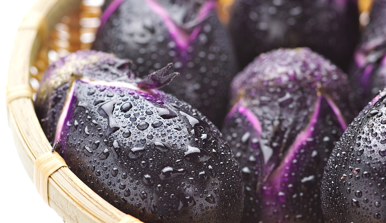 加賀野菜であるヘタ紫なす